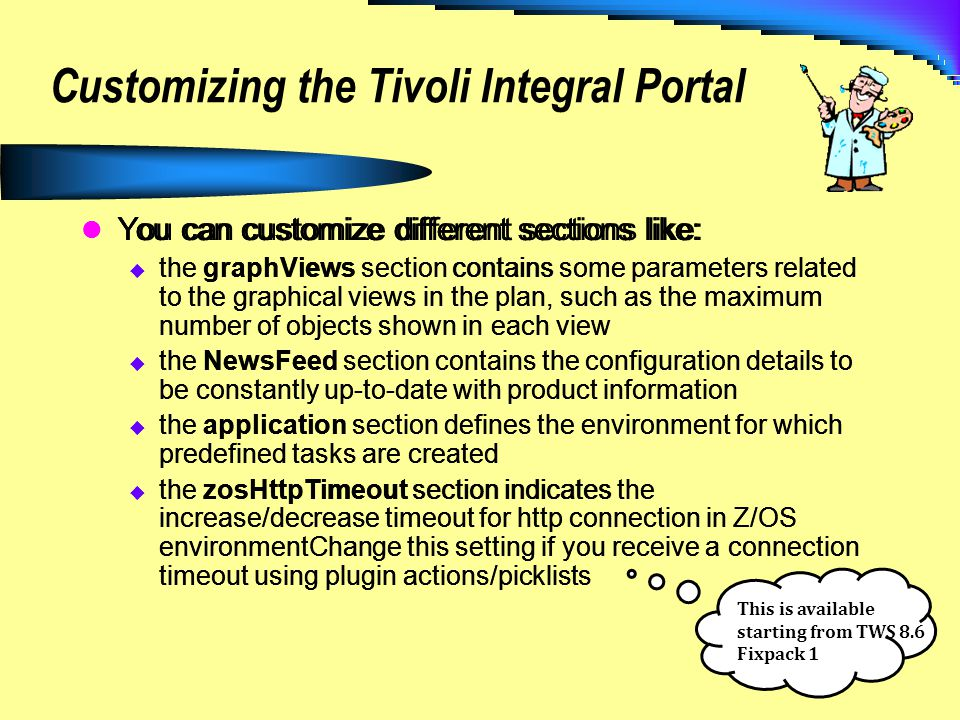 Customizing the Tivoli Integral Portal