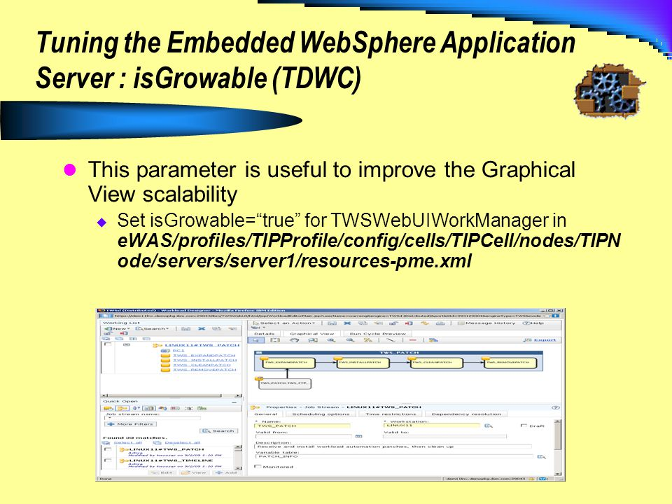 Tuning the Embedded WebSphere Application Server : isGrowable (TDWC)