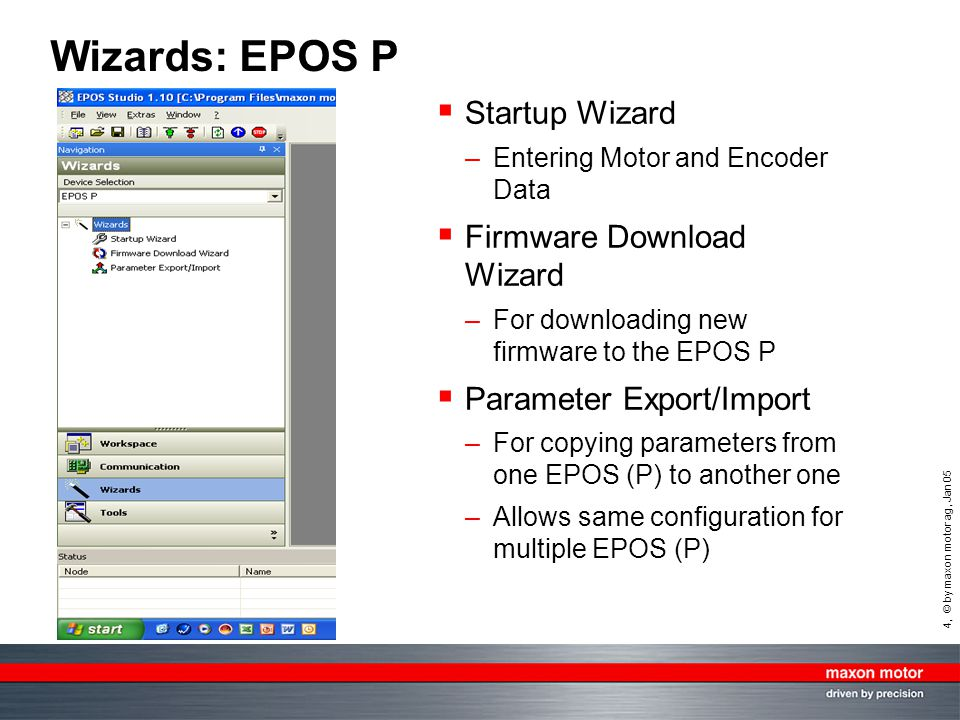 Wizards: EPOS P Startup Wizard Firmware Download Wizard