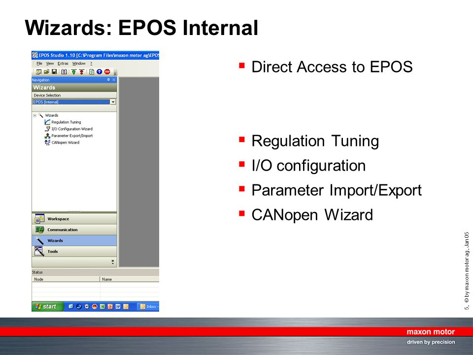 Wizards: EPOS Internal