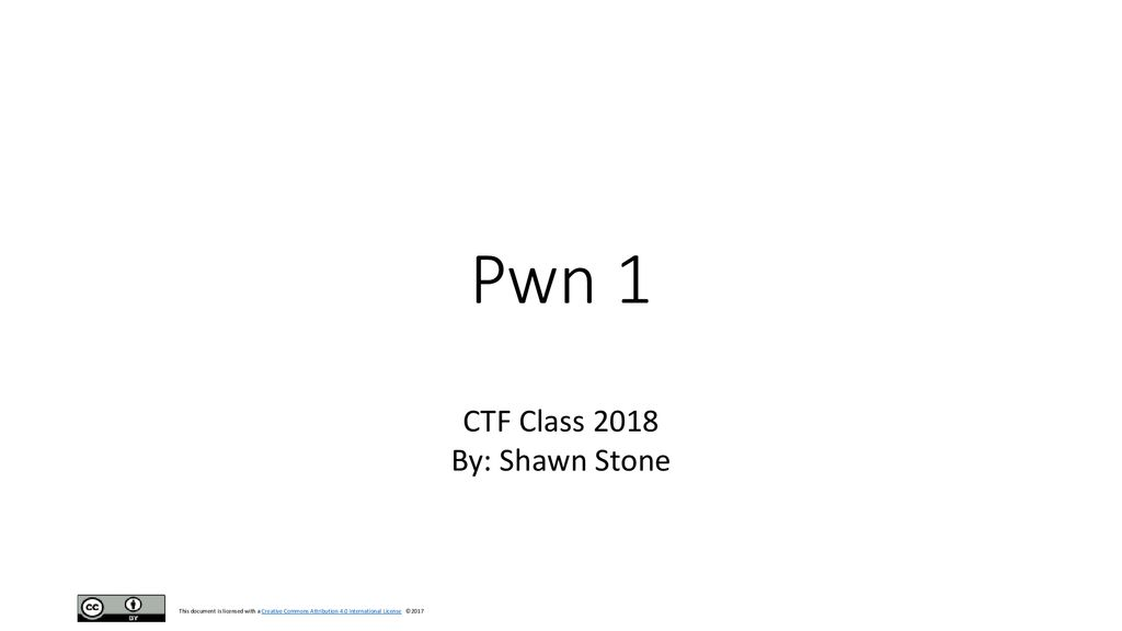 CTF Class 2018 By: Shawn Stone - ppt download