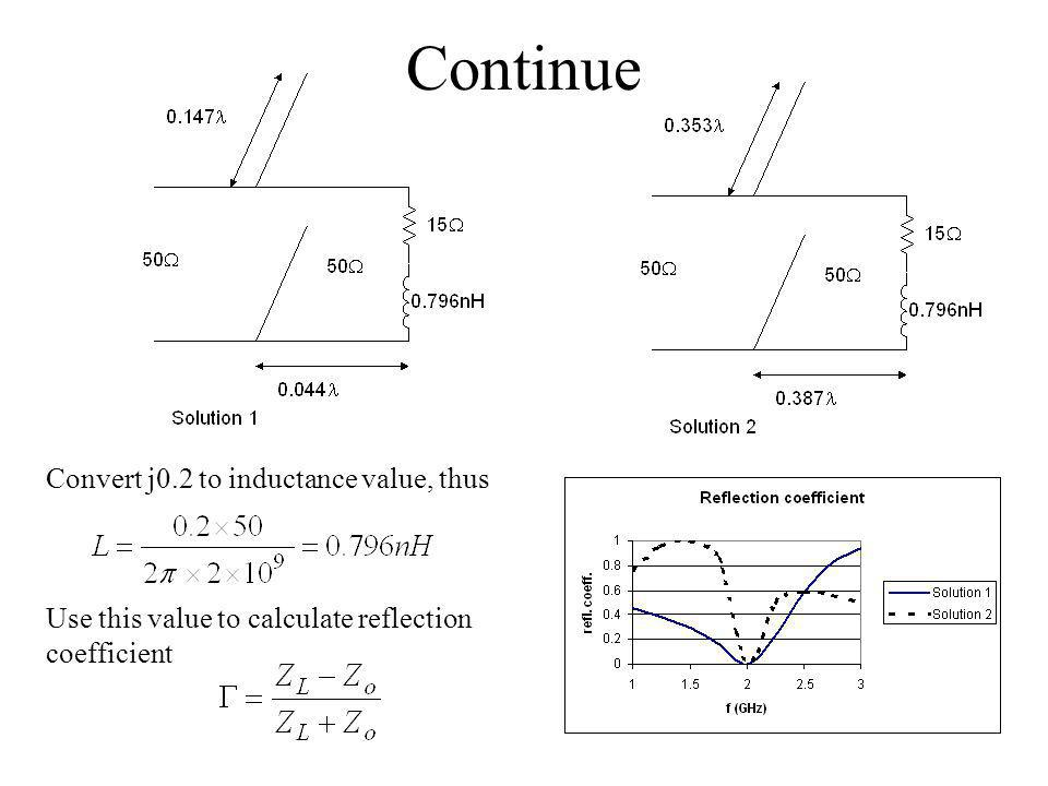 Continue Convert j0.2 to inductance value, thus