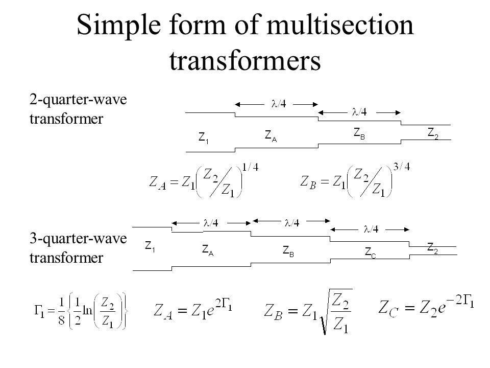Simple form of multisection transformers
