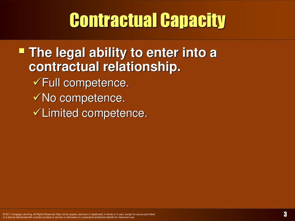 Contracts: Capacity, Legality, Assent, and Form - ppt download