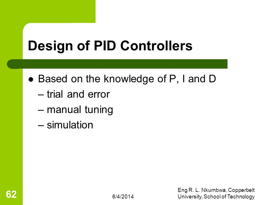 Design of PID Controllers