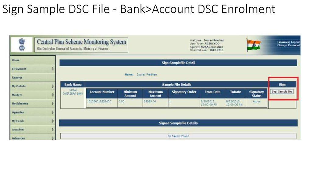 Digital Signature Enrollment in PFMS (Agency) - ppt download