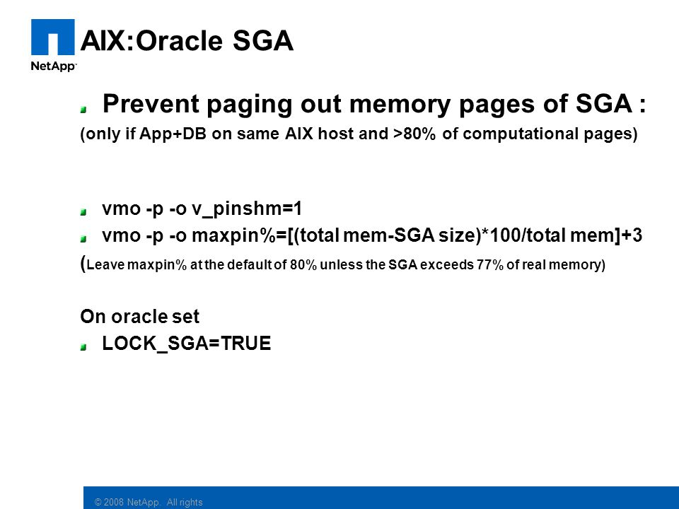 AIX:Oracle SGA Prevent paging out memory pages of SGA :