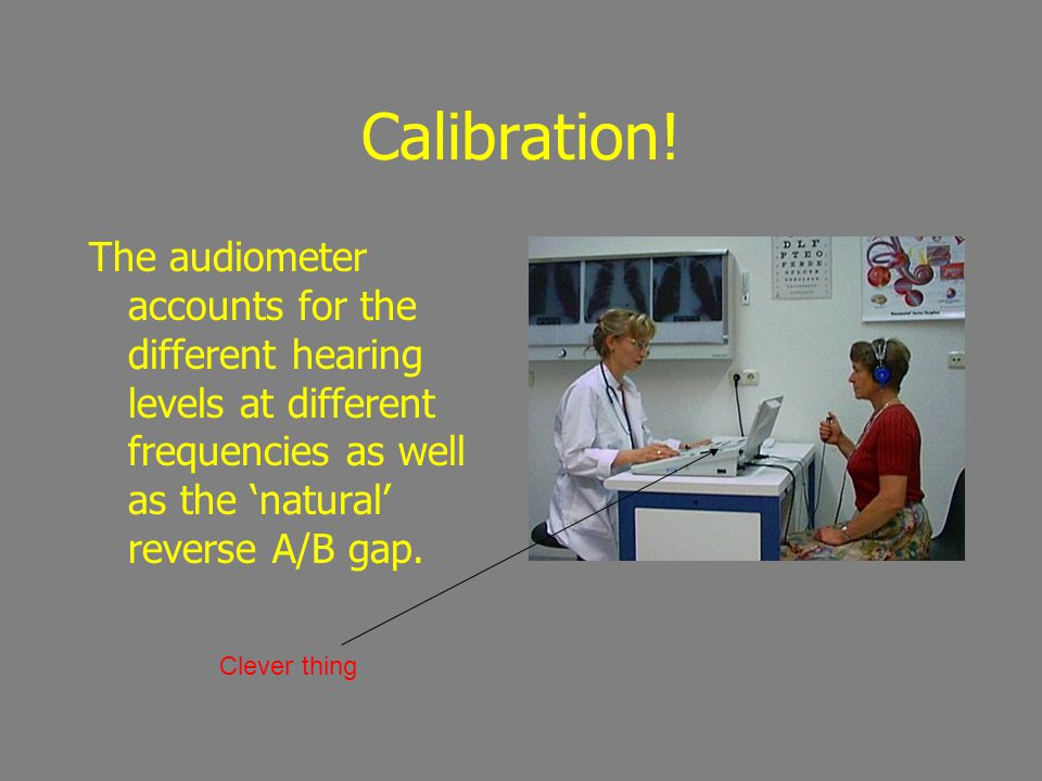 Calibration! The audiometer accounts for the different hearing levels at different frequencies as well as the 'natural' reverse A/B gap.