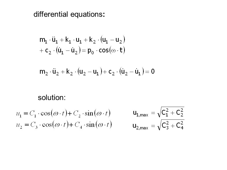 differential equations: