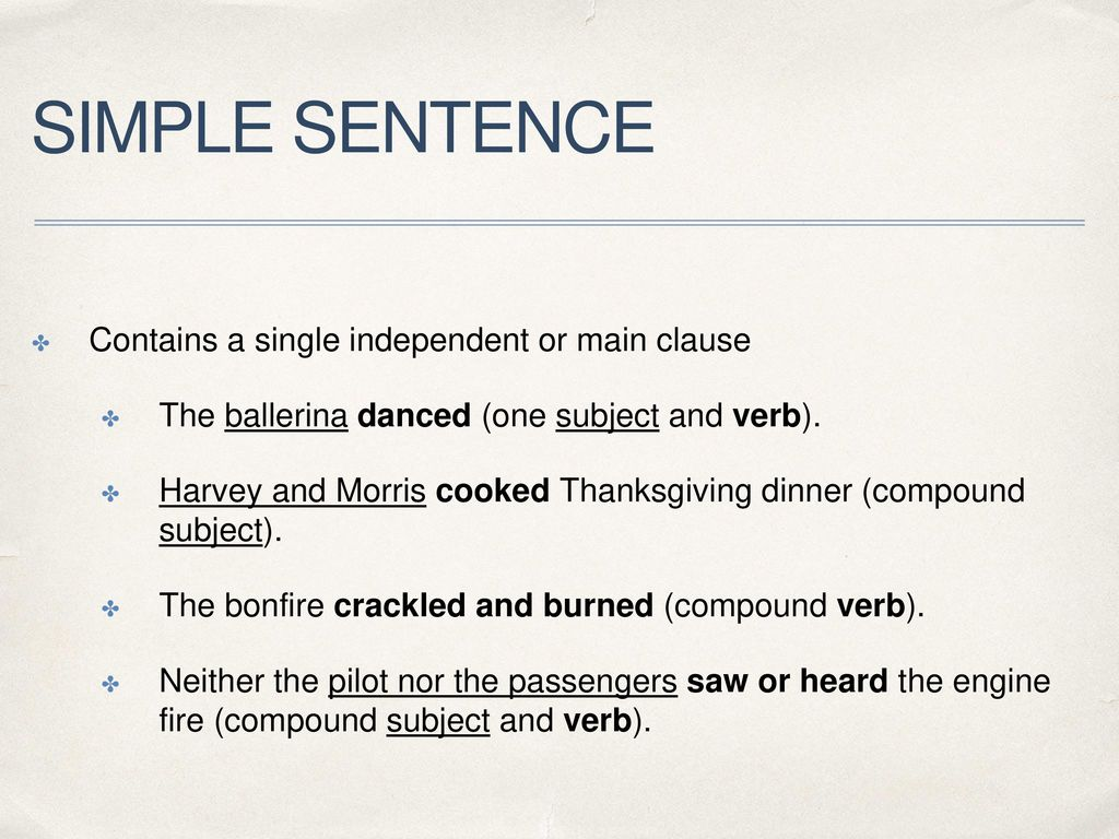 The Four Structures Of Sentences Ppt Download