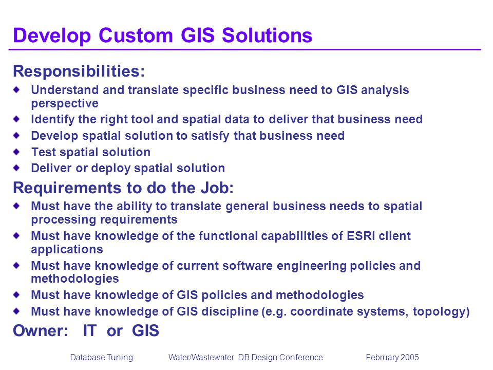 Develop Custom GIS Solutions
