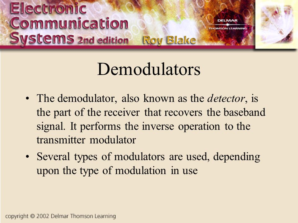 Demodulators