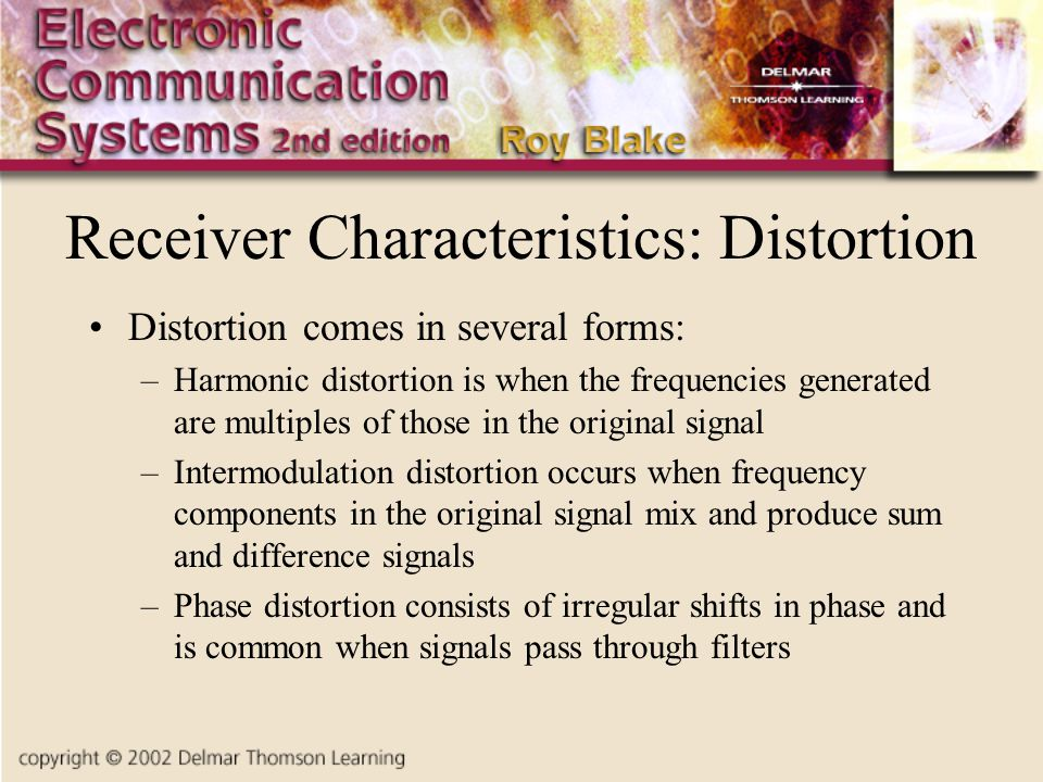 Receiver Characteristics: Distortion