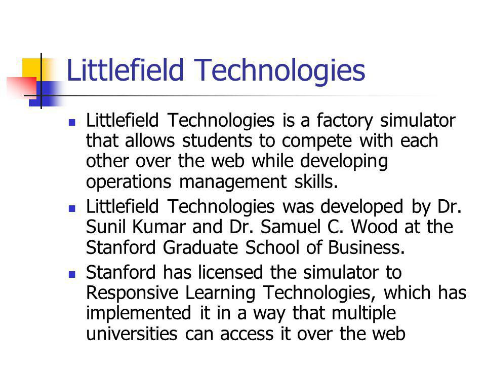 littlefield simulation hints