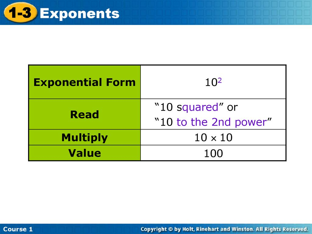 10 Squared exponents course ppt download