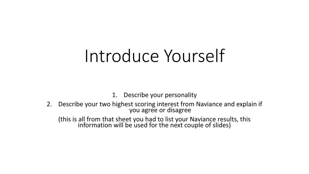how to describe your personality