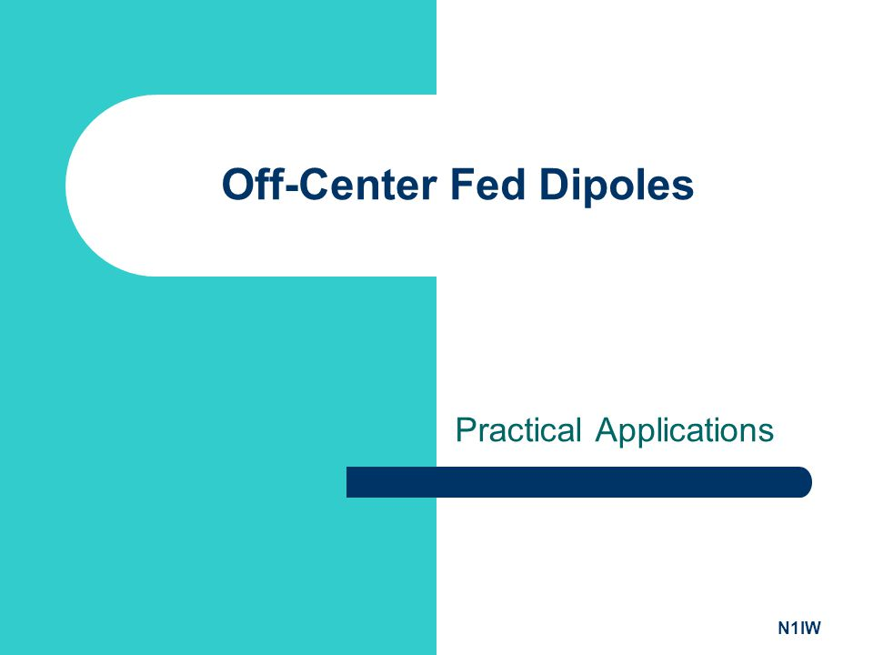 Off-Center Fed Dipoles