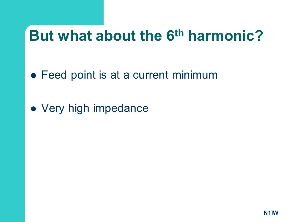 But what about the 6th harmonic