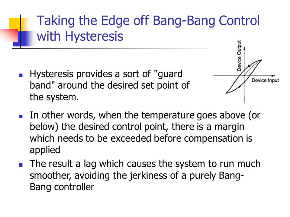 Taking the Edge off Bang-Bang Control with Hysteresis