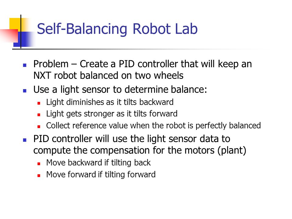 Self-Balancing Robot Lab