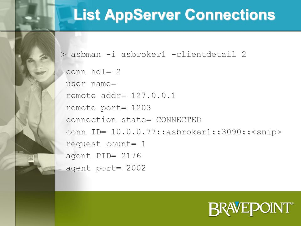 List AppServer Connections