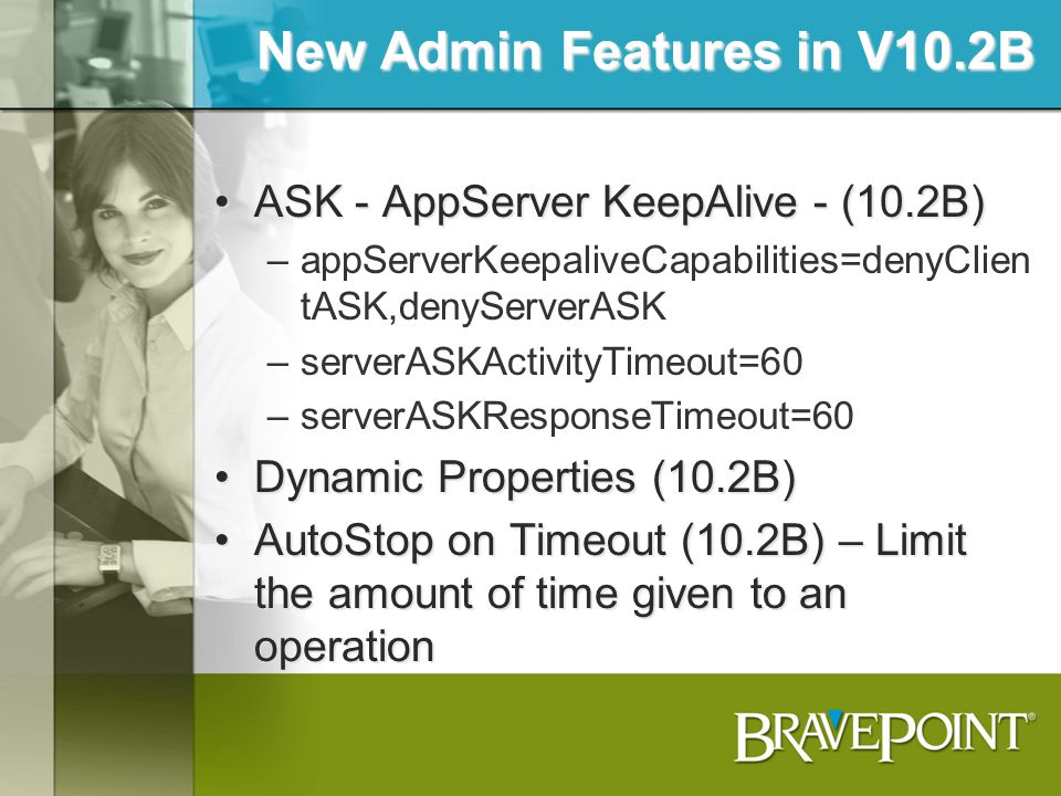 New Admin Features in V10.2B