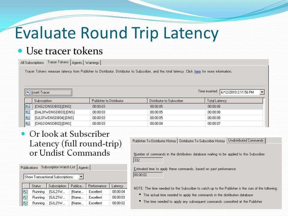 Evaluate Round Trip Latency
