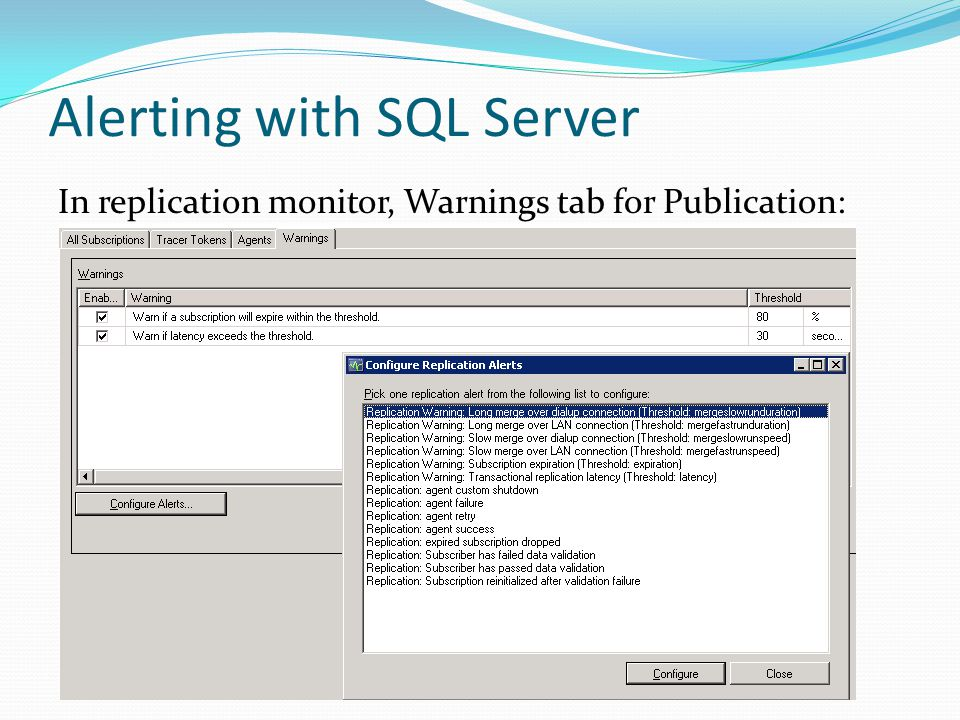 Replication Performance Tuning and Troubleshooting for SQL