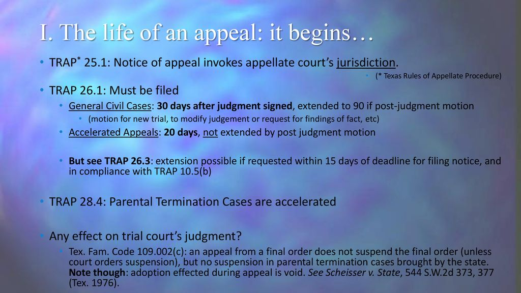 Civil Appellate Process and Duties of an Appellate Paralegal