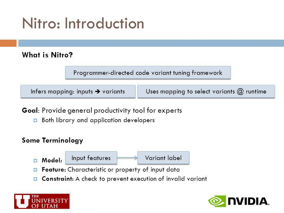 Nitro: Introduction What is Nitro