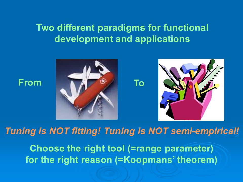 Two different paradigms for functional development and applications