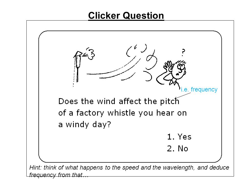 Clicker Question i.e. frequency