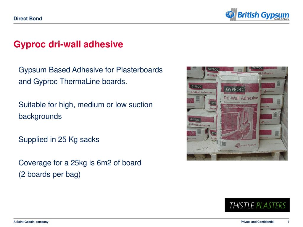 Direct Bond – Dry Lining to Masonry Backgrounds - ppt download