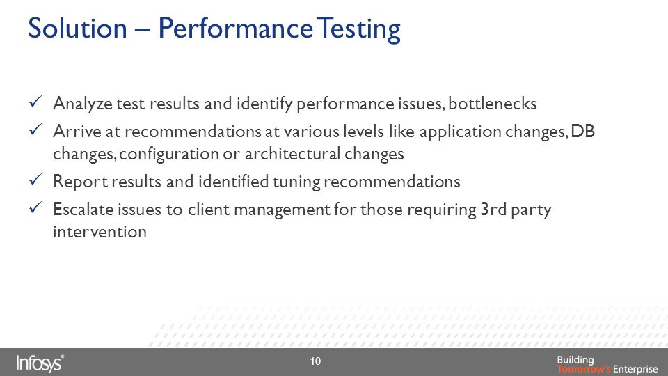 Solution – Performance Testing