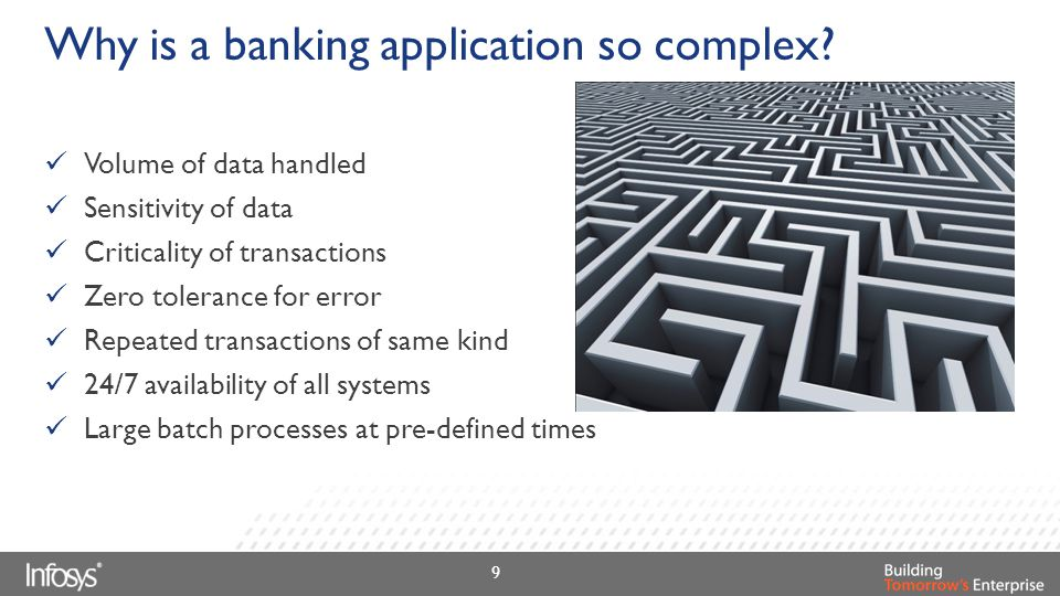 Why is a banking application so complex