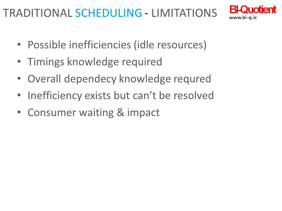 Traditional Scheduling - limitations