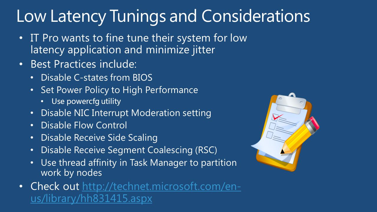 Low Latency Tunings and Considerations
