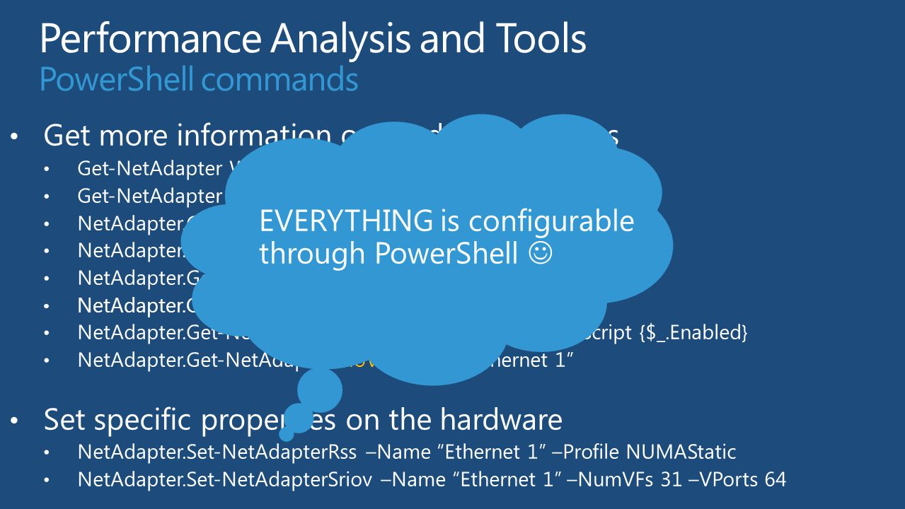 Performance Analysis and Tools PowerShell commands