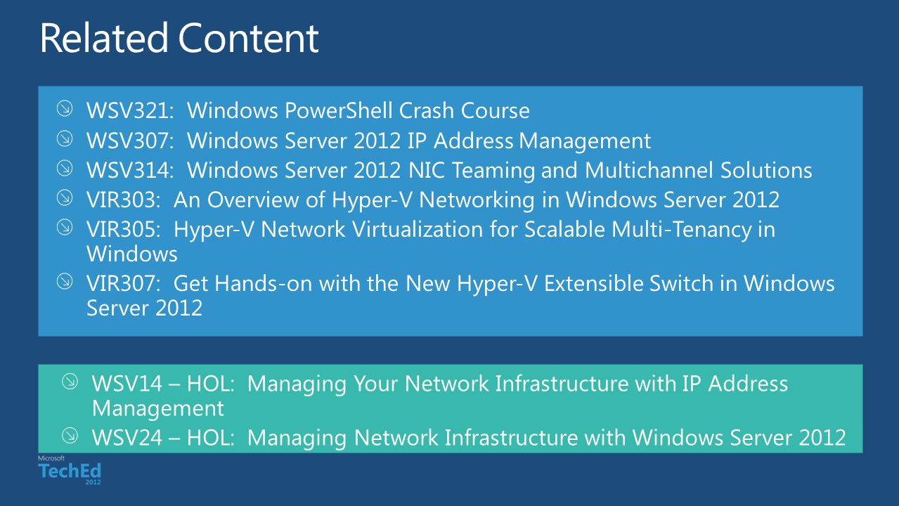 Related Content WSV321: Windows PowerShell Crash Course