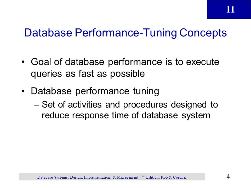 Database Performance-Tuning Concepts
