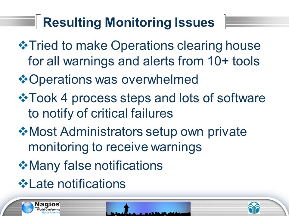 Resulting Monitoring Issues