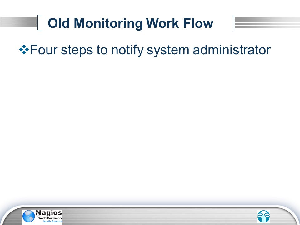 Old Monitoring Work Flow