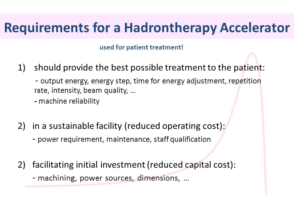 Requirements for a Hadrontherapy Accelerator