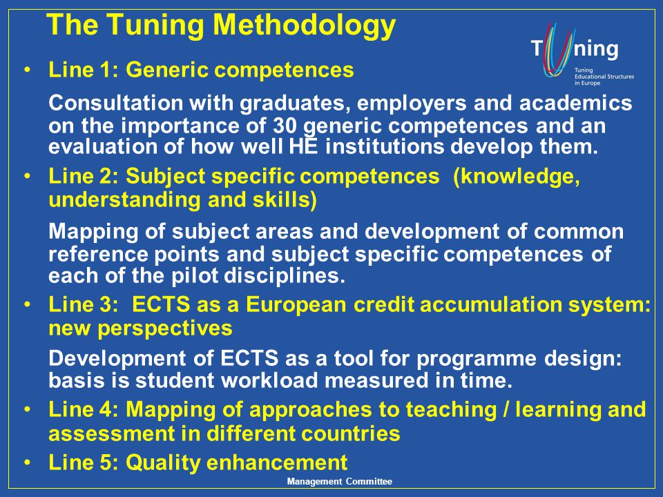 The Tuning Methodology