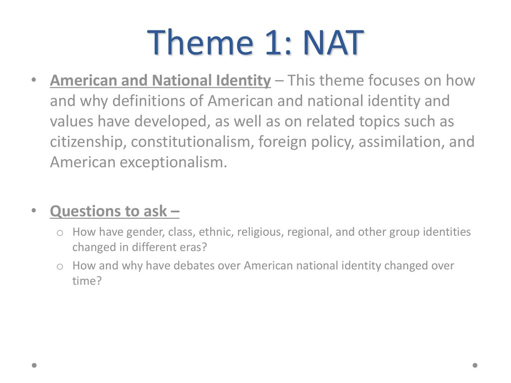 APUSH Themes ppt download