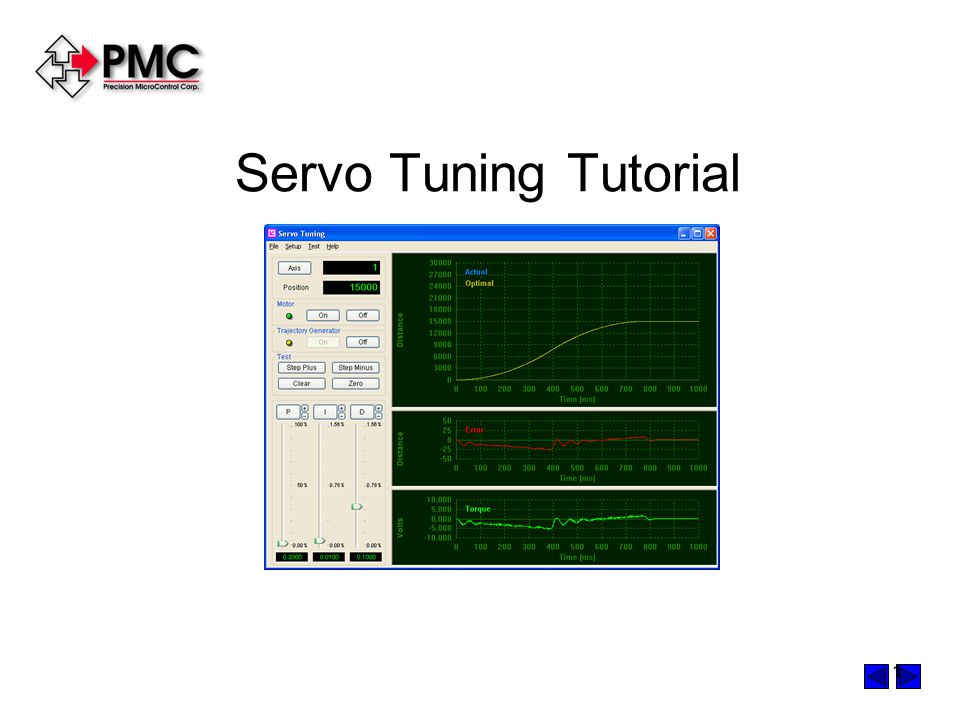 Servo Tuning Tutorial