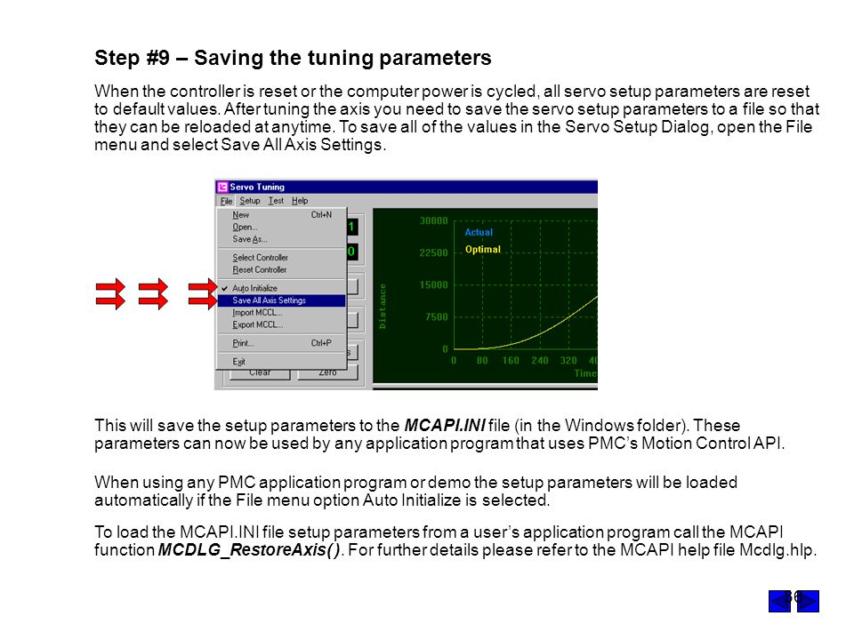 Step #9 – Saving the tuning parameters