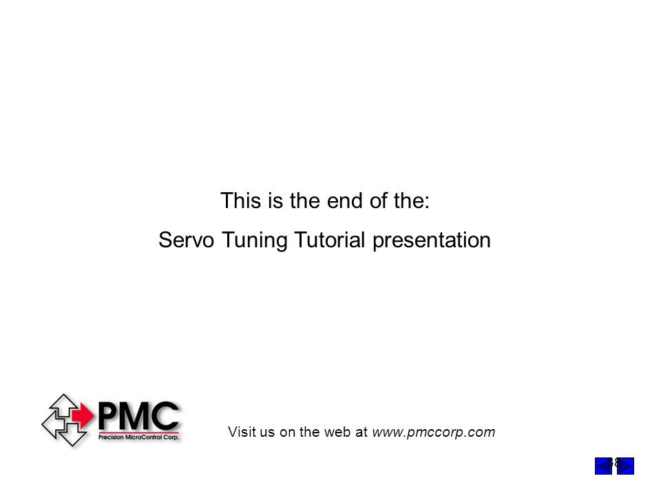 Servo Tuning Tutorial presentation