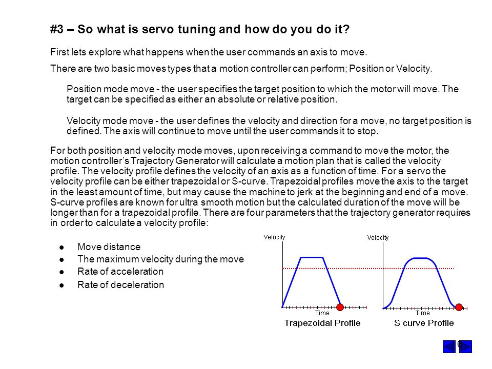 #3 – So what is servo tuning and how do you do it