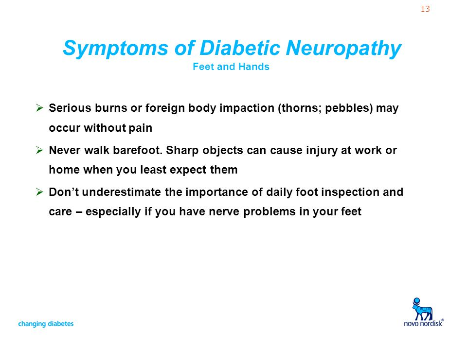 Symptoms of Diabetic Neuropathy Feet and Hands
